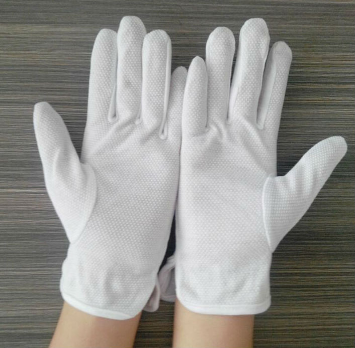 Popular thin cotton glove with dots