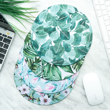 FDT Fresh Green Plant Leaves LOFT Office Simple round Mouse Pad Garden Thicker Locked Home Game Wrist Pad