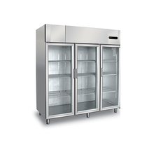 Luxury Stainless Steel 3 doors commercial upright display freezer for sale