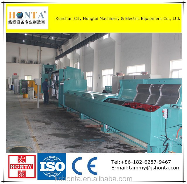 Aluminum Rod Breakdown Machine With Annealer, Wire and Cable Making Equipment