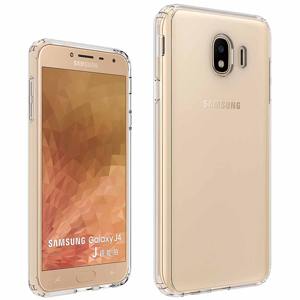For Samsung J4 Prime Cover Case QI Wireless Charger Transparent TPU J6 2018 View