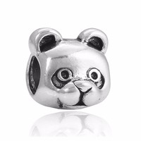 Large Hole Silver Plated European Panda Charms Bead Fits Charms Snake Chain Bracelet&Necklace Jewelry