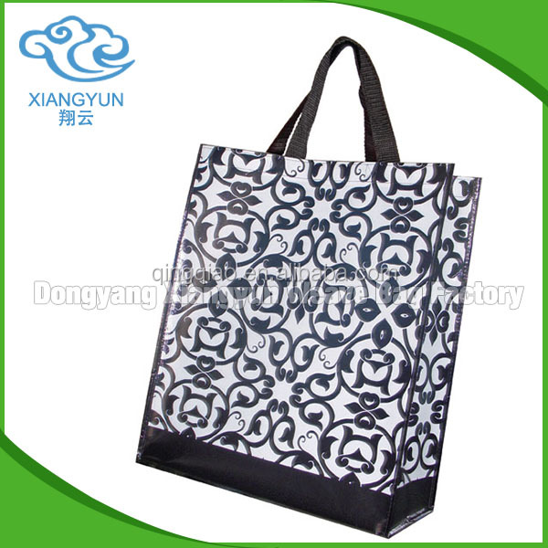 Fashion colorful polypropylene eco friendly/ pp plastic bag