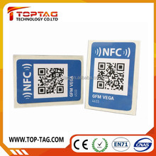 QR Code Printing NTAG213 NFC Sticker with URL Encode