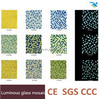 Luminous swimming pool glass mosaic tile,Blue light or green light glow mosaic