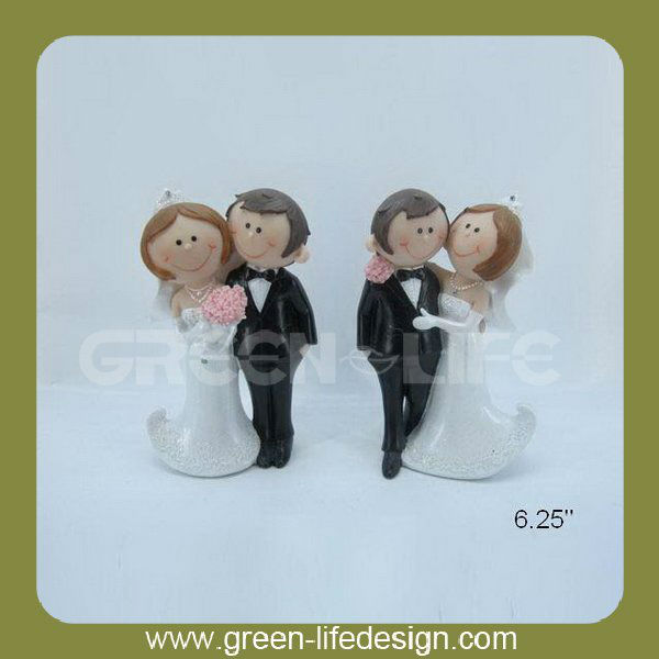 Resin couple abstract chinese dancing wedding figurines