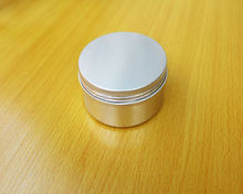 SGS aluminum box for soap packing,round shape cosmetic jar 4 oz