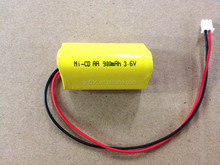 3.6V NiCD AA 900mah rechargeable battery pack