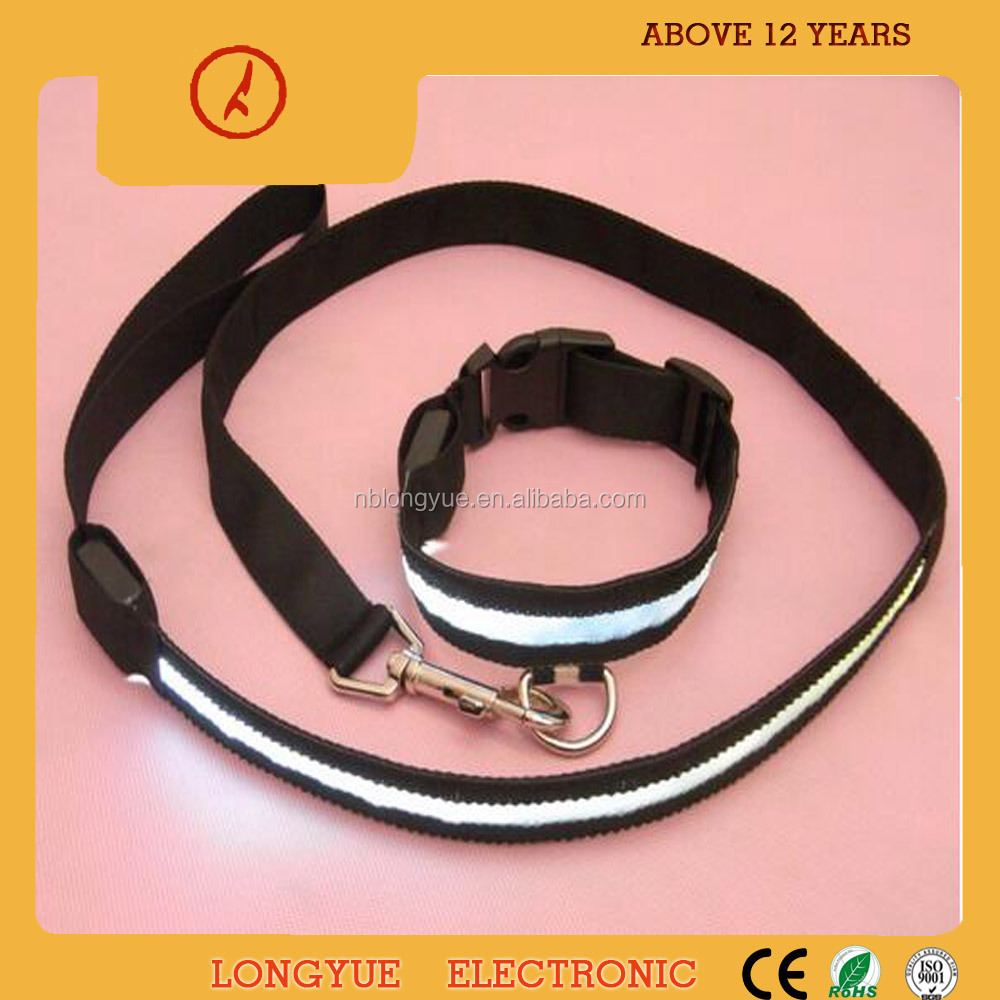 Wholesale for flashing led light pet accessory dog pet collar and leash