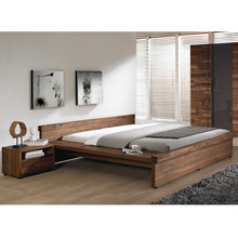 Low headboard stylish and unique wooden bed,double wooden bed design