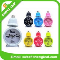 Metal real desk two bell ring alarm clock colorful funny alarm clock