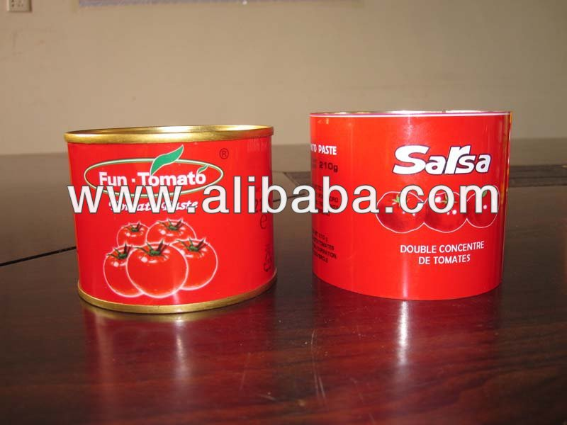 small Size Canned Tomato Paste 210gram in printed tin