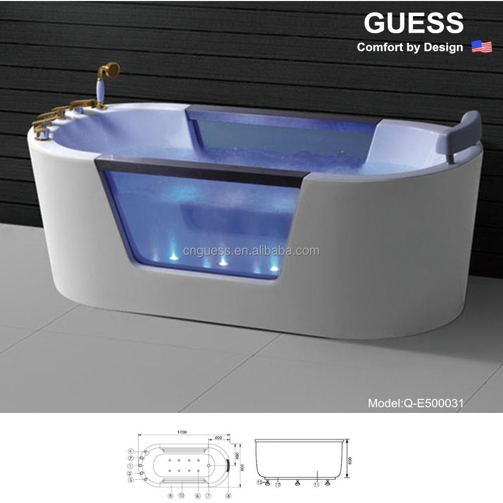 Acrylic hot tub bath shower tub q e500031 buy bathtub for Best acrylic bathtub to buy
