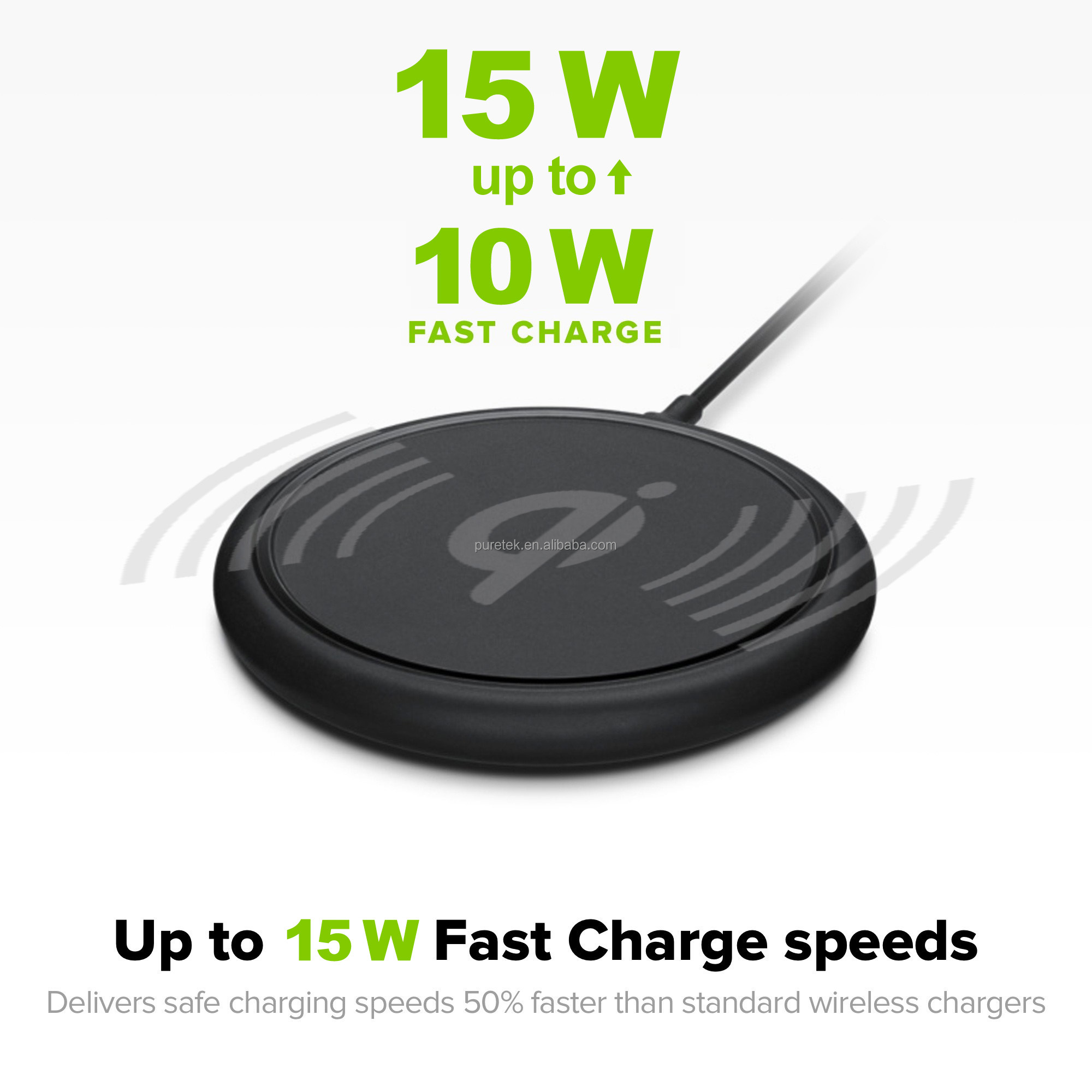 Factory direct wholesale Best price Qi Wireless fast charger base for iPhone X and Samsung s9 and all mobile with Qi Wireless