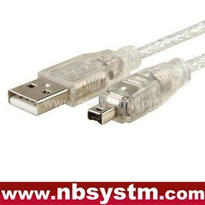 3x 6' 1.8m USB 2.0 to IEEE 1394 4pin FireWire DV Cable