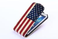Vertical Flip leather cover for Samsung S4 mobile phone case