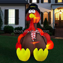 Inflatable various size cute turkey for yard/party/festivel decoration