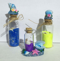 new souvenir item polyresin seagull and wishing bottle