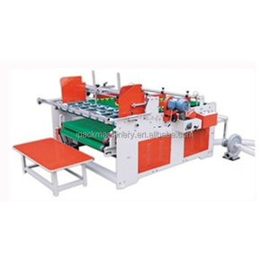 semi automatic folder gluer of carton machine press type folder gluer