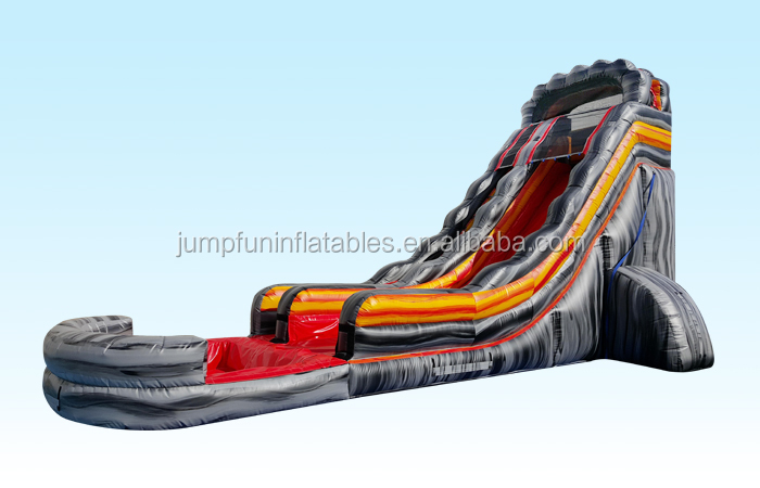 High quality volcano large water slide inflatable water slide for adults