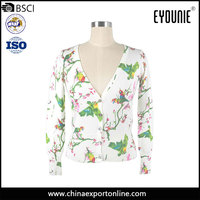 Lady Clothing Printed Sweater Spring Cardigan 2016 Women