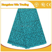 New african guipure bridal lace materials / Teal dubai cord laces for fashion dress 2016 women clothing