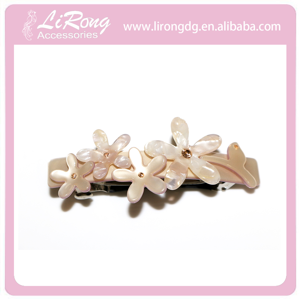 Wholesale flower hair clips barrette making supplies