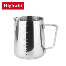 Top level new coming hlighly polished milk mug stainless steel milk jug