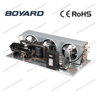 rotary condensing unit with horizontal rotary refrigeration compressor for freezing cabinet refrigerator condenser