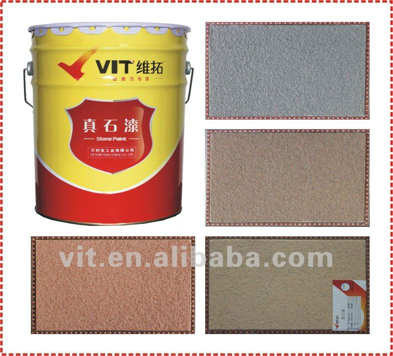 Natural stone texture paint for exterior wall