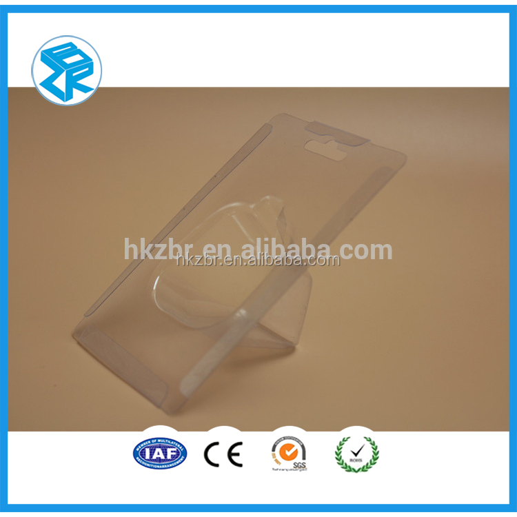 Fashion Design accessories Plastic display Clear clamshell Blister hanging Packaging for Perfume and Cosmetics