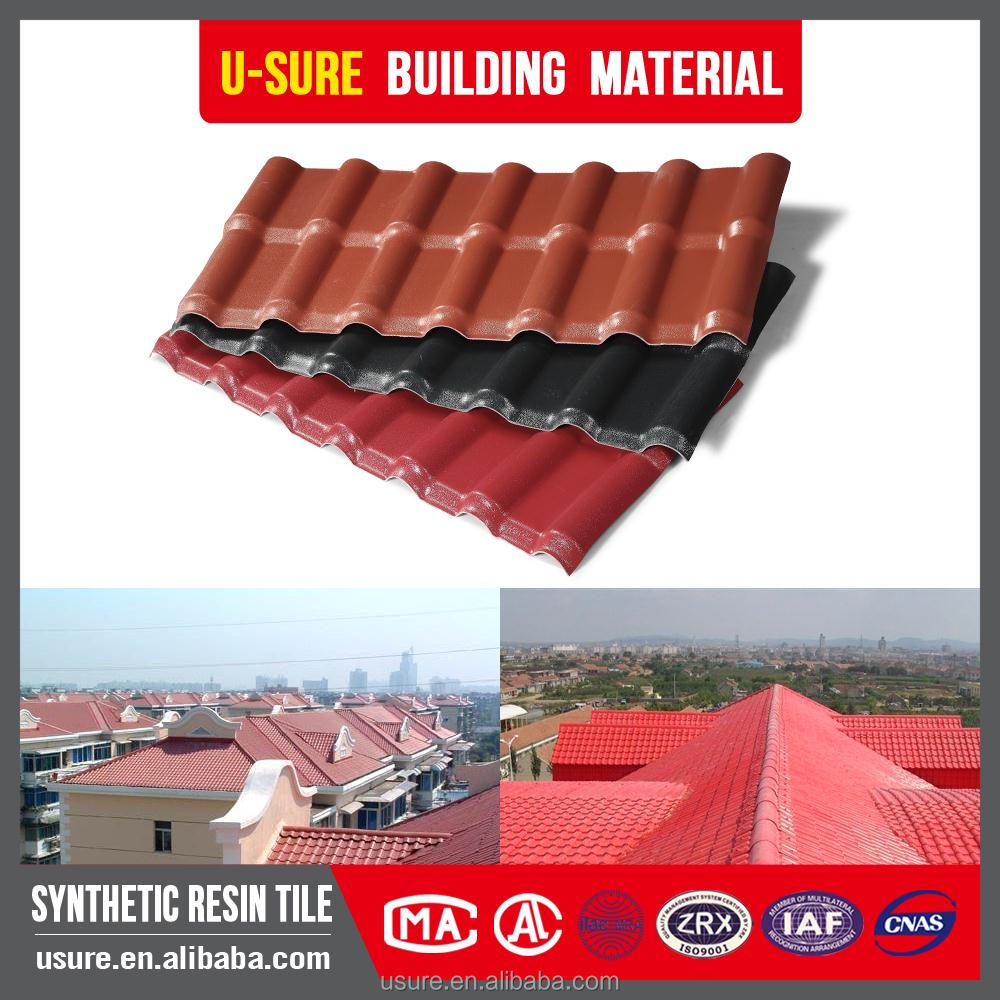 Trapezoid Insulated panels synthetic antique chinese roof tile