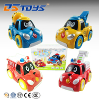Kids Toy Battery Operated Cartoon Toy Truck Car With Light 4 Stly Mixed