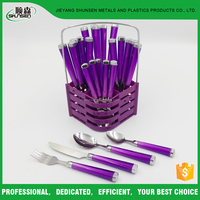New Design Plastic Handle Set Cutlery Stainless Steel