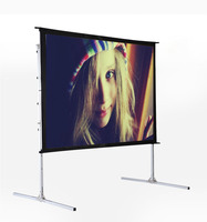 Outdoor portable Fast fold projector screen