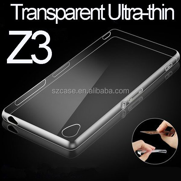 Transparent ultra-thin tpu case for Sony Xperia Z3 cell phone case cover for sony z3