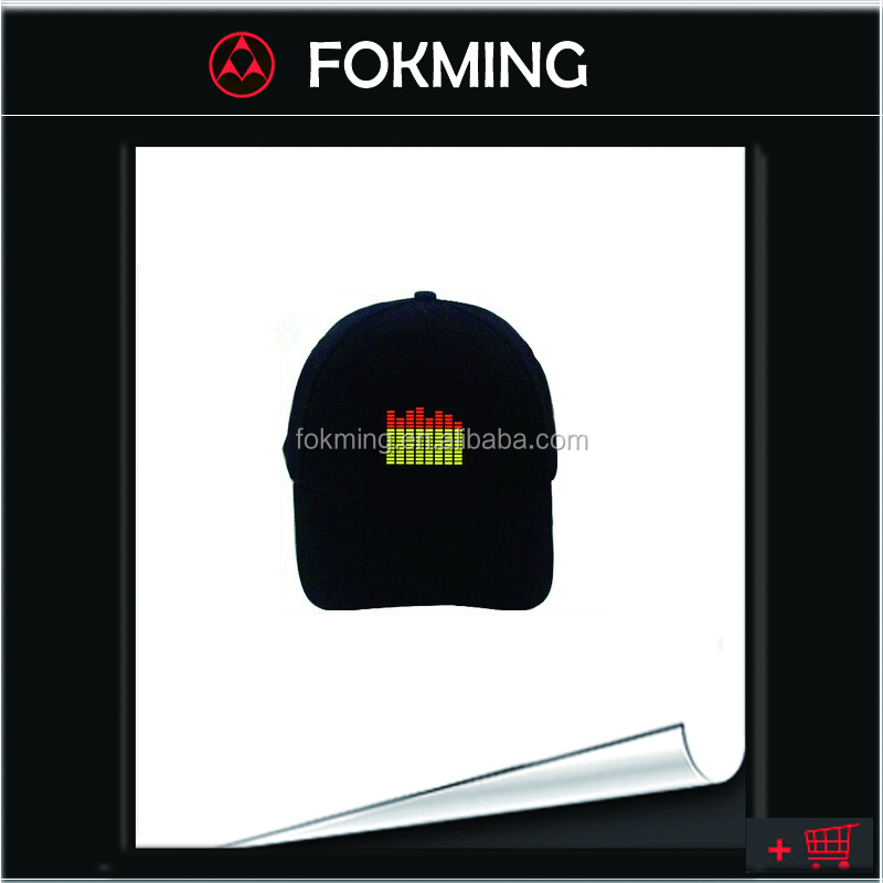 good design el equalizer hat/EL Flashing Cap DJ Caps EL Sound Activated Hat