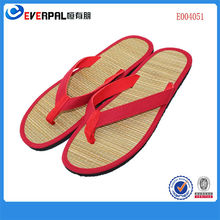 Natural straw slippers bamboo slippers shoes