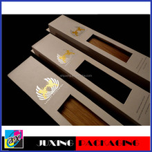 gold foil stamping and window hair extention packaging