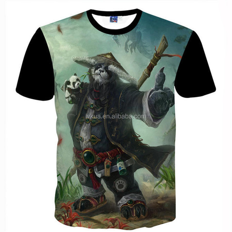World of Warcraft ( WOW )3D Printing t-shirt / OEM Your Design 3d t-shirt