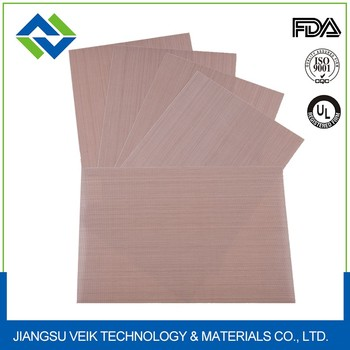 0.28 MM Brown ptfe coated glass fabric EASY CLEAN heat resistant