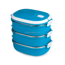 1-4 layer leak proof thermos hard plastic lunch box with handle