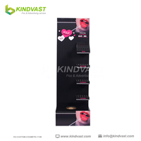 Pop Up Cardboard Floor display stand for cosmetics