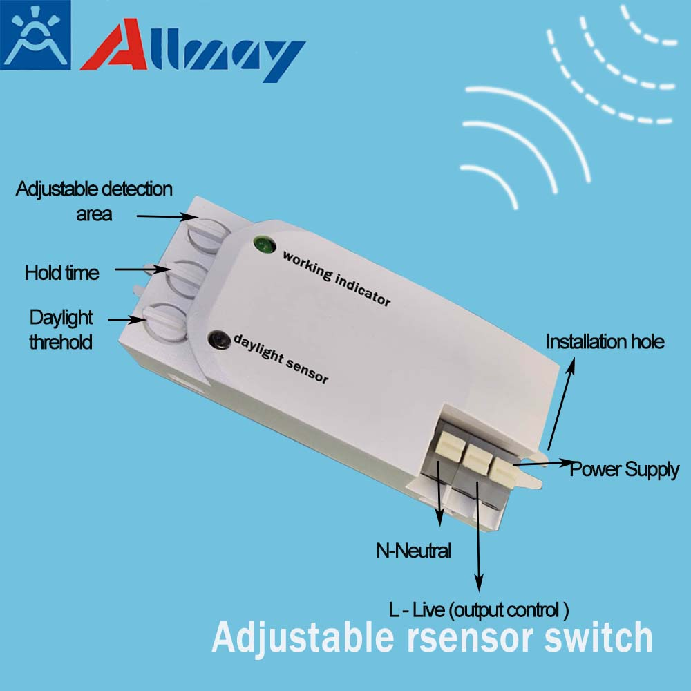 Power saving adjustable lighting Intelligent Control microwave Movement Radar Sensing switch