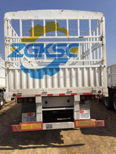 3 Axle 30 Ton Stake fence truck trailer Made in China