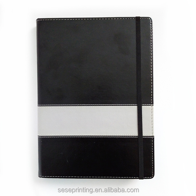 2017 Custom Luxury Agenda Diary, Cheap Wholesale Pu Leather Notebook With Elastic Band