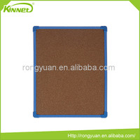 Plastic frame corrugated cardboard backing wholesale cork board
