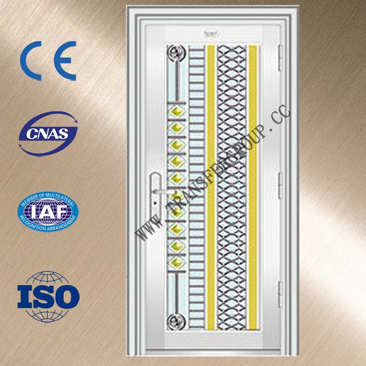 Stainless steel export door,Safety door design with grill