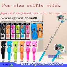 2015 new products rgknse supreme mini seflie stick rk-mini 3 selfie stick ,selfie stick monopod