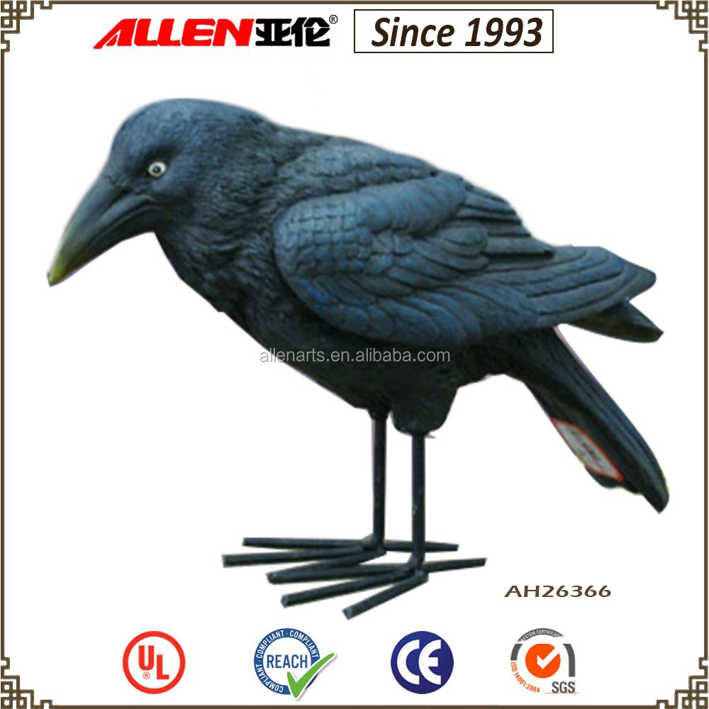 "6.3"" factory direct resin halloween crow decoration"
